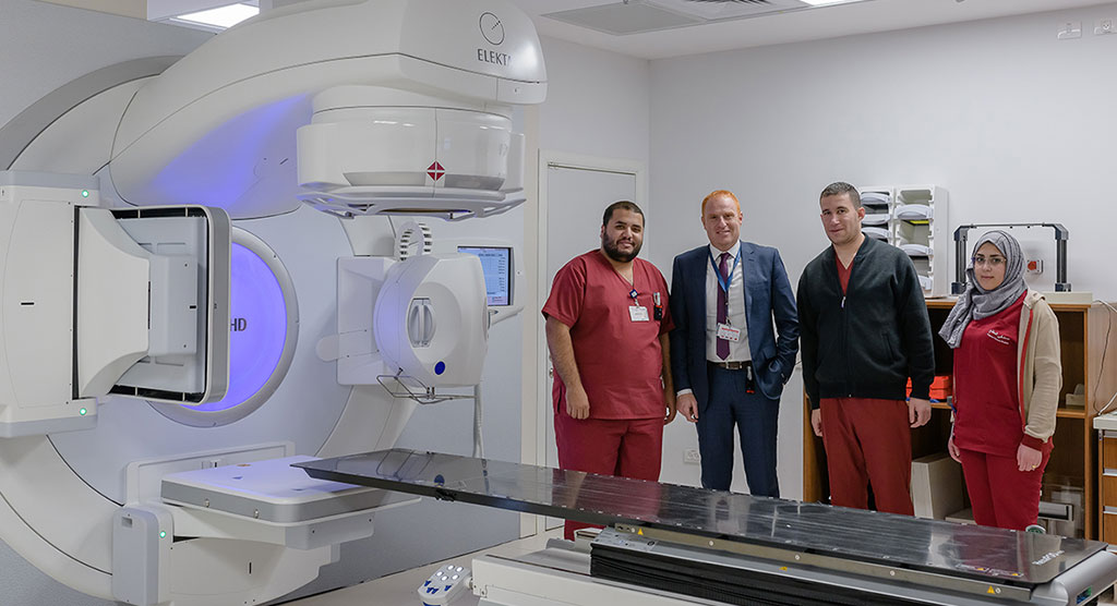 East Jerusalem hospital a vital radiotherapy resource for patients in Gaza and the West Bank